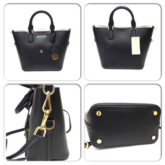 51% off Michael Kors Handbags - Michael Kors Large Black Greenwich ...