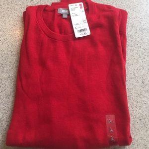 Red Cotton cashmere crew neck sweater