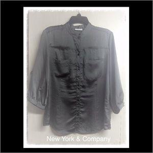New York & Company Button Up Blouse
