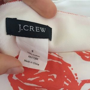 J. Crew Skirts - J. Crew coral floral high-waisted skirt w/ pockets