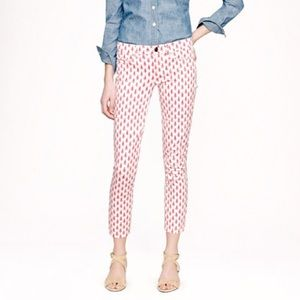 J. Crew thistle print cropped matchstick jeans