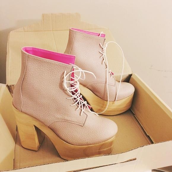 323cf737b4f Deandri Helga blush/pink platform shoes