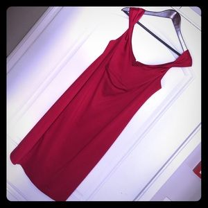 Calvin Klein Red Satin Bodycon Dress