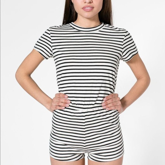 341f65fbdd7 American Apparel Other - AA Pink and Grey Striped Romper