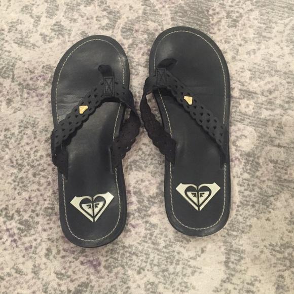 Roxy Scalloped Leather Flip Flop Sz9