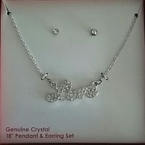 Jewelry - Necklace and Earring Love Set