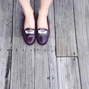 UO patent leather loafer