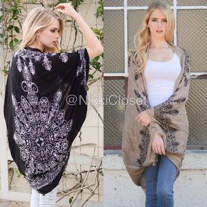 BOutique Accessories - New kimono scarf cardigan wrap cocoon boho coverup