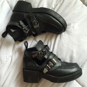 Buckle Black Boots