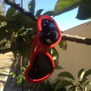 Retro Red Heart Shaped Sunglasses