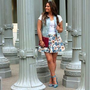 LUSH Floral Skater Skirt