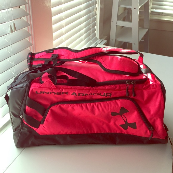 fec5c66837b6 Pink Under Armour Duffle   Backpack