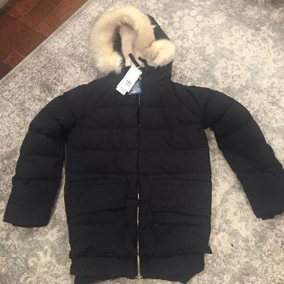 113e0d470726 NWT Adidas Prem Down Parka Coat Fur Sz. Medium