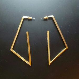 Forever 21 Jewelry - Geometric hoops