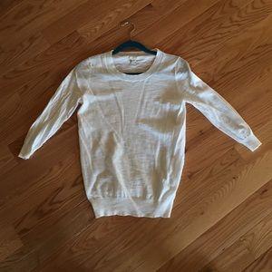 White lightweight crewneck pullover