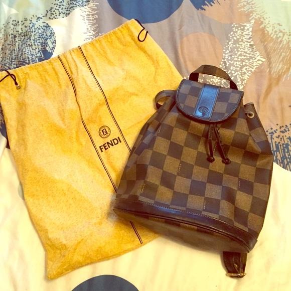 FENDI Handbags - ⚜VINTAGE⚜Fendi Backpack‼ e81a35cbe7c59