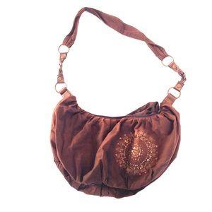 Brown cross body purse