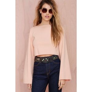 Brand New REHAB for NastyGal Peach Cropped Sweater