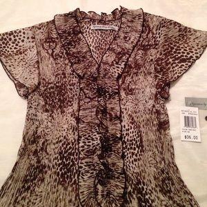 Larry Levine Tops - Leopard print blouse
