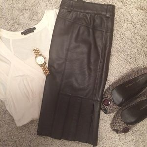 Laundry leather skirt