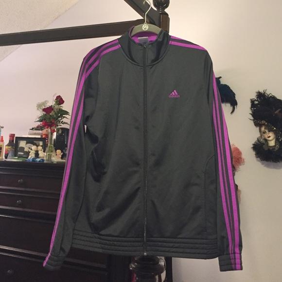Black & Purple Adidas Track Jacket