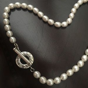 Tiffany's Freshwater Oval Pearl Necklace.