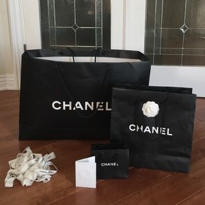 Authentic Chanel shopping bags