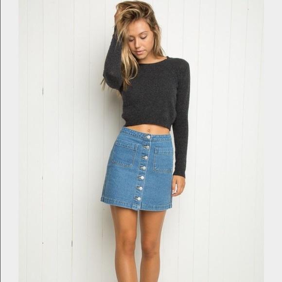 5bb43075d6 Brandy Melville Skirts | Denim Skirt | Poshmark