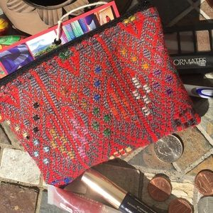 Ketzali Handbags - Multi-colored Textile Pouch