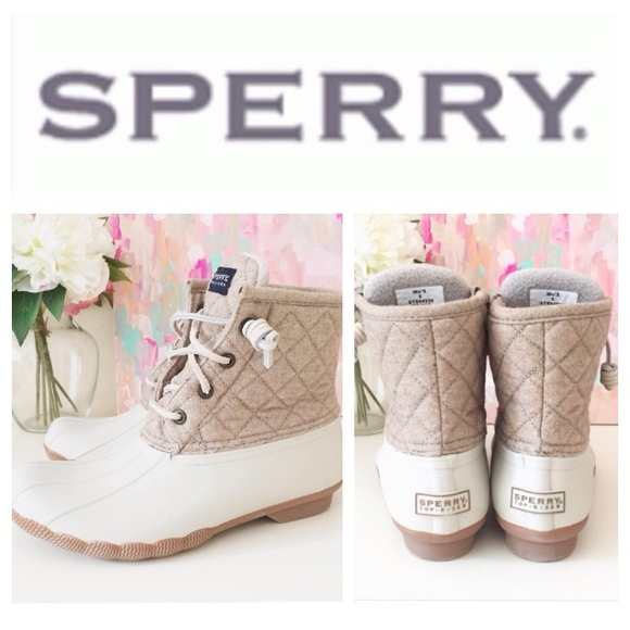more photos 29eda 0def9 Sperry Top-Sider quilted duck boots. M 56dccabd9c6fcf1e72003220