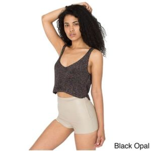 American apparel sparkle crop top