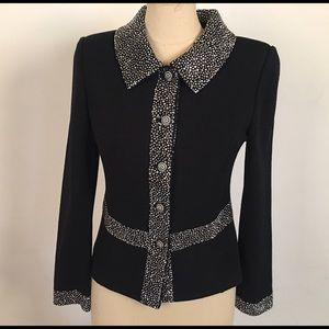 St. John evening jacket with beading