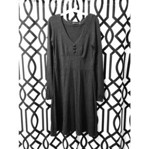 Zara gray long-sleeve dress