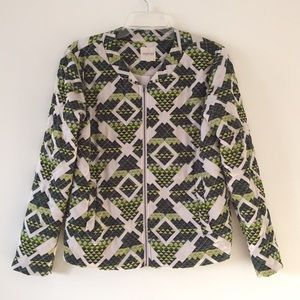 ASOS Selected mello quilted bomber in geo print