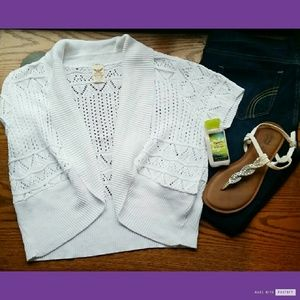 Knitted White Cardigan