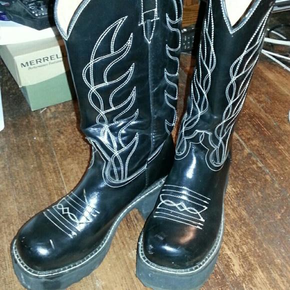 8655b7ed617 John Fluevog cowboy platform boots