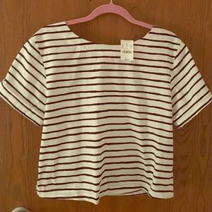J. Crew NWT Striped blouse