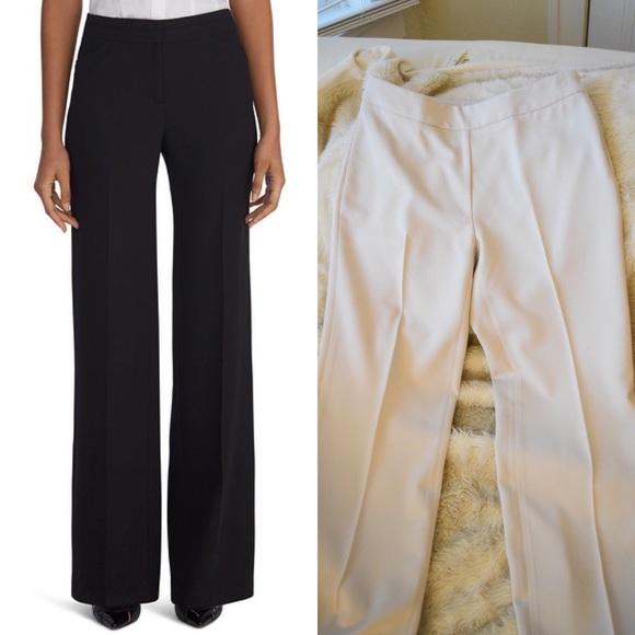 White House Black Market Wide Leg Khaki Tan Pants
