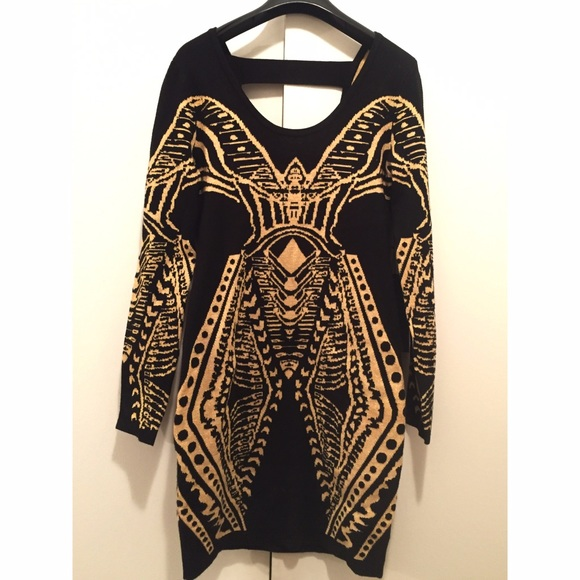 Gorgeous new w/ tags black & gold cocktail dress
