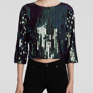  Endless Rose Multicolor Sequin Top