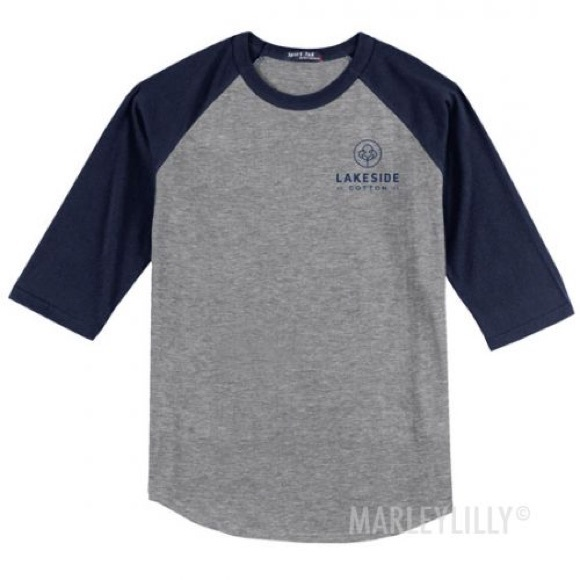 58 off lakeside cotton tops raglan baseball tee from