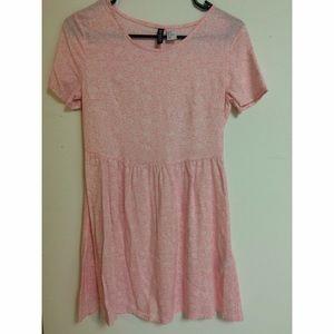 H&M Pink Flower Babydoll Dress