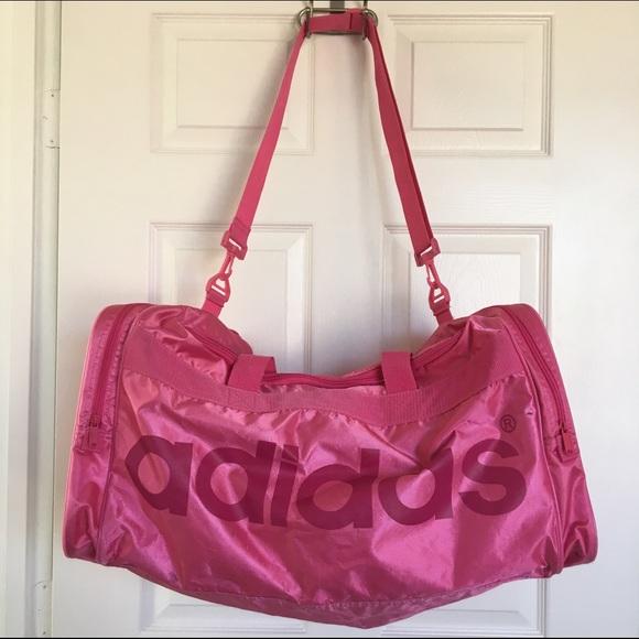 ddd3b110b6 Adidas Handbags - Large pink Adidas duffle bag