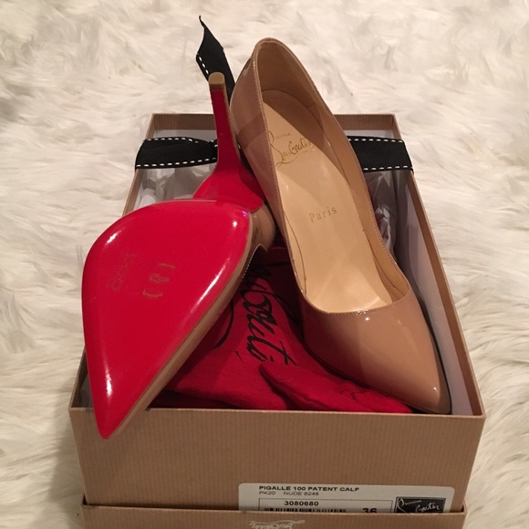 8a75e906853 Authentic Christian Louboutin Pigalle 100mm