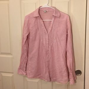 Pink and white Stripe Blouse