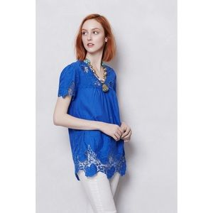  Vanessa Virginia Eyelt Azurite Peasant Blouse