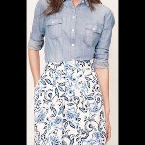 Loft Floral Pocket Skirt