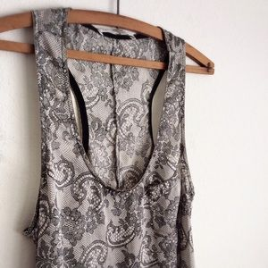 Collective Concepts Tops - ⓢⓐⓛⓔ Collective Concepts • lace print racerback