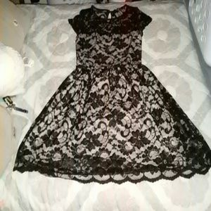 $4SALE!!!Black and beige lace dress
