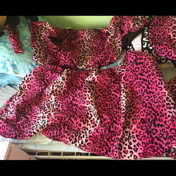 Pink Leopard Cheetah Print Car Seat Covers